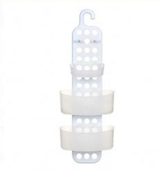 Raft pentru baie - 3 rafturi plastic alb - 61cm