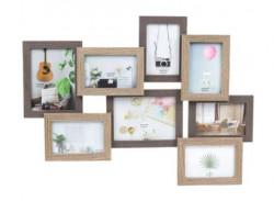Rama foto din lemn 2 nivele (8 fotografii) 63x47 cm