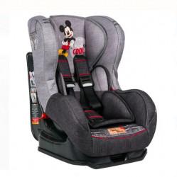 Scaun auto pentru copii, gri, 42 x 54 x 65 cm, model Mickey Mouse