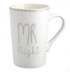 Set cani Mr right Mrs right, 350ml, 8x12cm