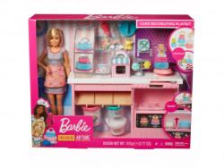 Set de joaca Barbie - cofetarie cu accesorii