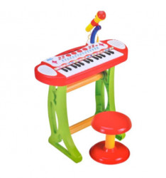 Set karaoke pentru copii, orga electronica, scaunel, microfon, 31 clape si functie karaoke