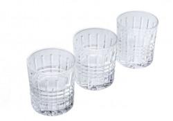 Set pahar whisky cu model cu linii