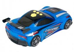 Vehicul de curse albastru cu sunet si lumini