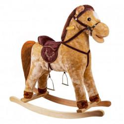 Balansoar copii Rocking Horse, Maro, 65x50 cm
