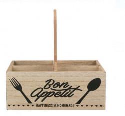 Cutie din lemn cu 4 separatoare pentru organizarea mesei