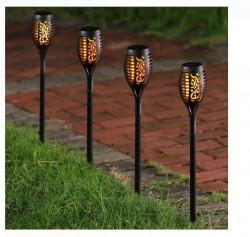 Lampa solara LED cu efect de flacără 9x50 cm