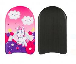 Placă de inot Unicorn Rainbow pentru copii 45x26 cm
