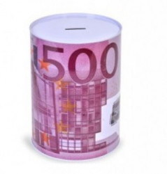 Pusculita metalica mov 500 EURO 12 X 16 CM