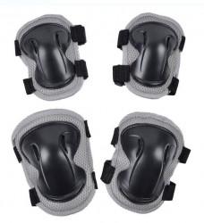 Set protecție genunchi și cot negru