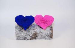 Trandafir criogenat 8 cm - inima