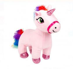 Unicorn de plus cu coama si coada multicolora - 18cm