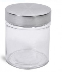 Borcan din sticlă cu capac metalic 300 ml.