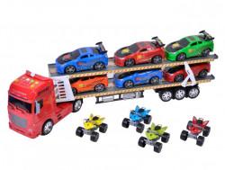 Camion cu 10 vehicule cu sunet si lumini
