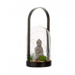 Felinar Feng Shui decorativ Buddha cu LED, 20 x 13 cm
