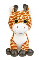 Girafa de plus, ochi sclipici, 15 cm