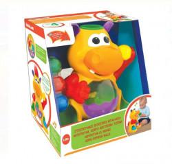Joc hipopotam aruncator de bile colorate, muzica si lumini