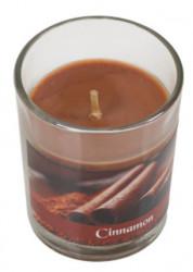 Lumânare aromata într-un pahar, scorțișoară, 5x6,5 cm