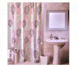 Perdea baie - flori liliac - 180x180cm