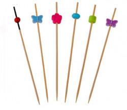 Scobitori din bambus cu model colorat