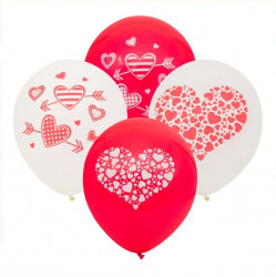 Set 20 baloane 30cm in forma de inima
