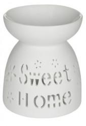 Suport pentru lumanare din ceramică cu model Sweet home