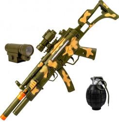 Arma cu baterii, contine grenada cu sunet si lumina