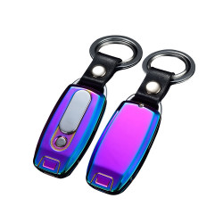 Bricheta electrica, incarcare USB, antivant, breloc cu lanterna