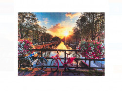 Covor de ușă - Amsterdam Canal Biciclete - 60x45 cm