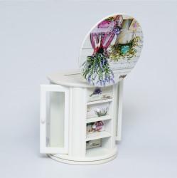 Cutie bijuterii cu sertare. Design lavandă