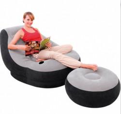 Fotoliu gonflabil cu suport pentru picioare - Intex - 99 x 130 x 76 cm
