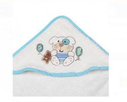 Halat de baie, bumbac, Ursuleț de pluș, bej, 75x75 cm