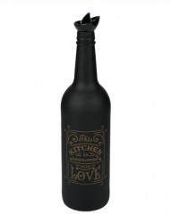 Recipient pentru ulei sticlă - Negru Bronz mat Print 750 ml