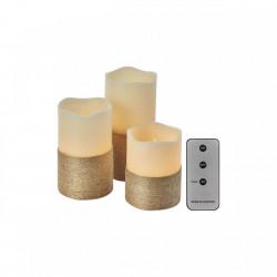 Set 3 lumanari LED, lumina Vintage, 0.06W, IP20, Emos + telecomanda