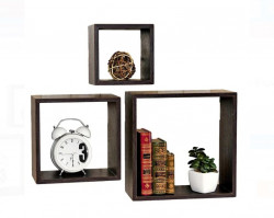 Set 3 rafturi decorative patrate