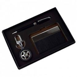 Set cadou cu 3 accesorii – Breloc/ Portcard/Pix