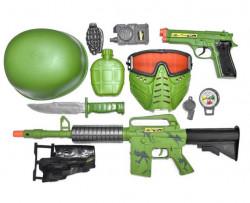 Set de luptă cu sunet și lumini de armă - 11 buc.