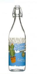 Sticla cu dop si model cactus 1 l