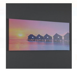 Tablou canvas LED Apus in Maldives 70x30x1,5 cm
