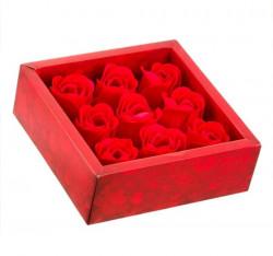 Trandafiri parfumati decorativi 4,5 cm - 9 buc.