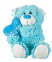 """Ursuleț de pluș Blue Light Heart """"Its a Boy"""" 28 cm"""