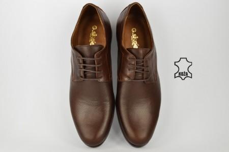 Kožne elegantne muške cipele 418-B braon