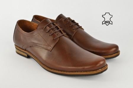 Kožne muške cipele 418B braon