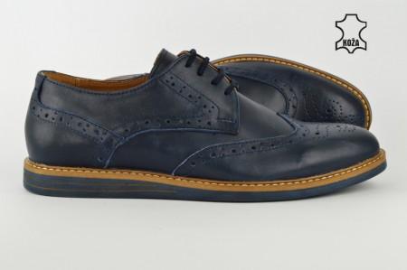 Kožne muške cipele 609 teget