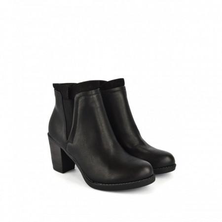 Ženske poluduboke čizme na štiklu LH085618-1CR crne