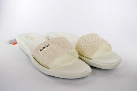 Gumene ženske papuče E204 bele
