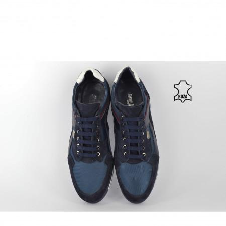 Kožne muške cipele A-1TT teget