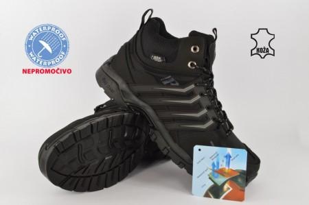 Kožne NEPROMOČIVE muške duboke cipele 34676 crne