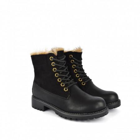 Postavljene ženske duboke cipele LH085660-1CR crne
