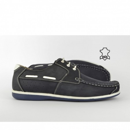 Kožne muške cipele 301-P teget